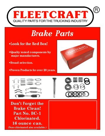 Fleetcraft Brake Parts - 4 page.p65 - New Life