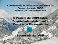 O Projeto da OMPI sobre Propriedade Intelectual e