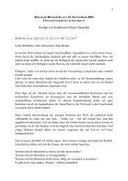 1 Predigt von Weihbischof Denis Theurillat - Bruder Klaus