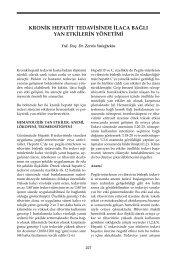 Kronik Hepatit Tedavisinde İlaca Bağlı Yan Etkilerin Yönetimi - VHSD