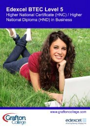 BTEC Higher National Certificate/Diploma in Business