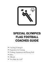 Flag Football Coaches Guide - Special Olympics Georgia