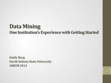 Data mining in IR for the beginner