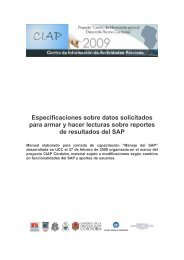 Manual de resultado - Centro de Información de Actividades Porcinas