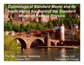 Cosmological Standard Model and Its Implications for Beyond the ...