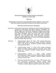 PMA No. 21 Tahun 2005 Tentang Perubahan Atas ... - Kemenag Sultra
