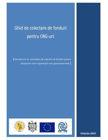 Ghid de colectare de fonduri pentru ONG-uri - IOM Moldova