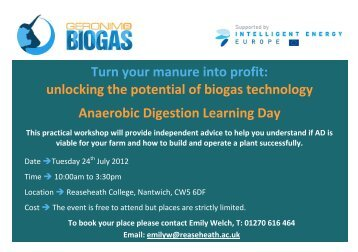 Turn your manure into profit: unlocking the potential of biogas ...