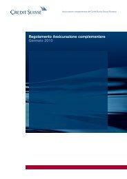 Regolamento Assicurazione complementare ... - Pensionskasse