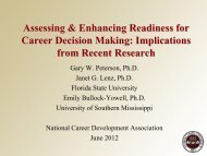 Career Development and Services: A Cognitive Information ...