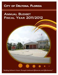 Annual Budget Fiscal Year 2011/2012 - City of Deltona, Florida