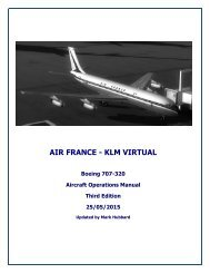AFVA Aircraft Operations Manual - Air France Virtual Airlines