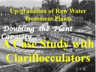 Augmentation Doubling the Plant Capacities A case ... - Aquatechtrade