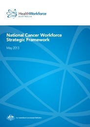 National Cancer Workforce Strategic Framework - Health Workforce ...