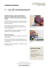1 - Lys på campingvognen - Campingland.dk
