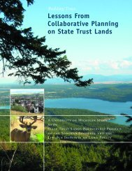 Lessons From Collaborative Planning on State Trust Lands