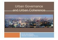 Urban Governance and Urban Coherence - Geographisches Institut ...