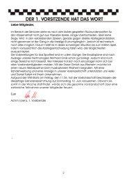 DER 1. VORSITZENDE HAT DAS WORT - Fussballverein Iffezheim