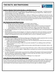 Sex Trafficking Fact Sheet - The Advocates for Human Rights