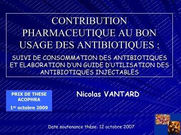 suivi de consommation des antibiotiques - Acophra