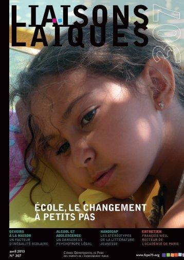 ÉCOLE, LE CHANGEMENT à PETITS PAS - Site de la FCPE Paris