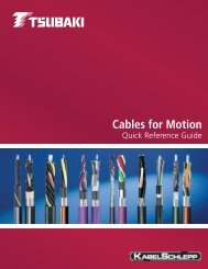 Cables for Motion Quick Reference Guide - U.S. Tsubaki