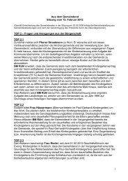 Protokoll vom 15.Februar 2012 - Nußloch
