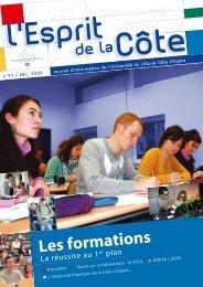 Les formations - Université du Littoral-Côte-d'Opale