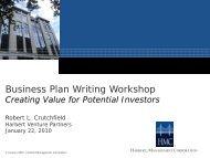 Business Plan Writing Workshop - AIME