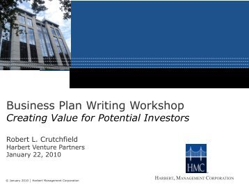 Business Plan Writing Workshop - AIME