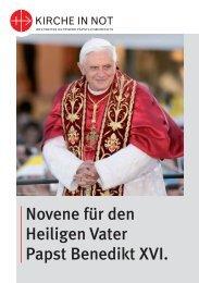 Buch - Papst Novene - 13-02-2013 - Kirche in Not