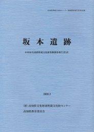 坂 本 遺 跡 - 高知県文化財団