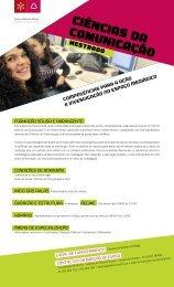 CIÊNCIAS DA COMUNICAÇÃO - ICS - Universidade do Minho