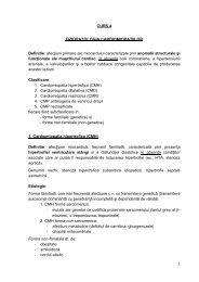 CURS 4 FIZIOPATOLOGIA CARDIOMIOPATIILOR ... - OvidiusMD