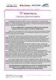 Nouveau Quartier Urbain - Ville de Montreuil
