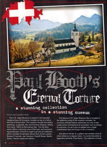 Paul Booth's Eternal Torture - a stunning collection in a stunning ...