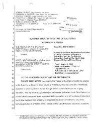 Ex Parte Application - Oakland City Attorney