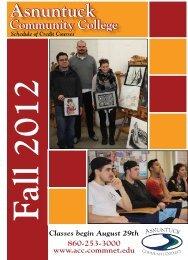 Fall 2012 Course Descriptions - Asnuntuck Community College