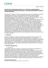 Notat // 16/01/09 1 OFFENTLIGE MYNDIGHEDERS ... - Cepos