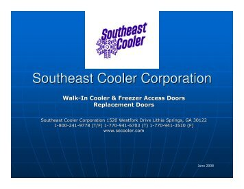 Southeast Cooler Corporation