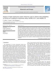 Analysis of high temperature plastic behaviour and its relation with ...
