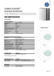 huber+suhner® planar antenna for wireless ... - Richardson RFPD