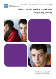 Mental health service transitions for young people - Social Welfare ...