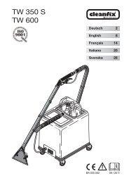 Mode d'emploi - Cleanfix AG