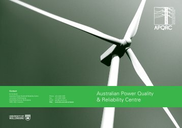 APQRC brochure - University of Wollongong