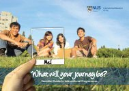 What will your journey be? - NUS - Home