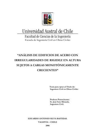 Memoria de Título Ingeniero Civil en Obras Civiles - CyberTesis ...