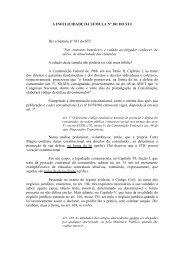 A INFELICIDADE DA SÚMULA Nº 381 DO STJ - AMB