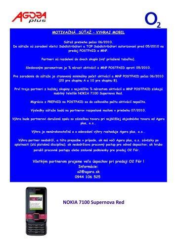 NOKIA 7100 Supernova Red - Agora SK
