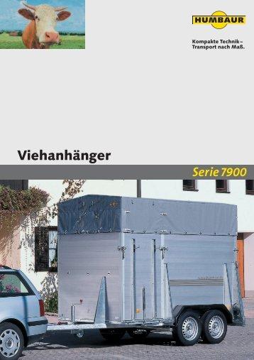 Prospekt Humbaur Viehanhänger - Wenk Fust